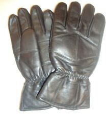 Men's Thinsulate Insulated  Genuine Leather Biker Gloves,Black,L