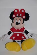 "Disney Parks 20"" Inch Minnie Mouse Plush Toy~Stuffed Animal~Classic Red Dress"