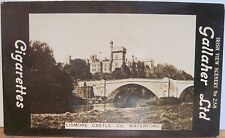 LISMORE CASTLE Cigarette Card GALLAHER IRISH VIEWS 258 County Waterford IRELAND
