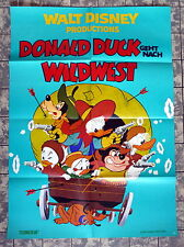 WALT DISNEY * DONALD DUCK GOES WEST *  A1-Filmposter WA - German 1-Sheet -1977