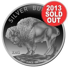 XAG Intrinsic Tender Buffalo 2013 1 oz .999 Silver Round (Mirror finish)