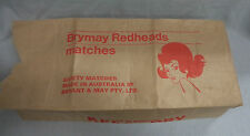 MATCHBOX WRAPPER FOR 1 GROSS OF BOXES - BRYMAY REDHEADS