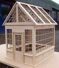 1:12th Natural Finish MDF Dolls House Miniature Flat Pack Unglazed Greenhouse
