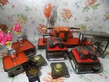 Japanese HINA Doll Accessory Miniature Furniture Pagoda, Brazier, Dinner Tray Bo