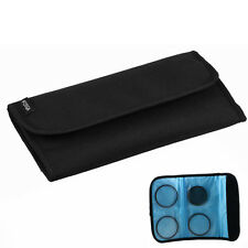 FOTGA 4 Pocket Lens Filter Wallet Case Bag Pouch for UV CPL ND IR Cokin P Series