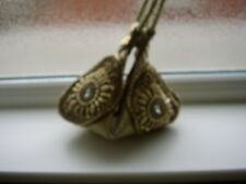 Golden Bordado Fortune Cookie Bolso de mano hecho con Brocade