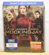 NEW HUNGER GAMES MOCKINGJAY PT.2 BLU-RAY+DVD+HD ULTRAVIOLET STEELBOOK! BEST BUY
