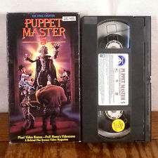 Puppet Master 5 VHS Movie Film Tape Horror Gore Slasher original 1st edition