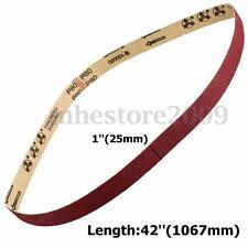 1'' x 42'' Sanding Belts,3 pack, 80 grit, AL Oxide,25 x 1067mm Sander Belt