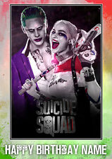 Suicide Squad Joker & Harley Quinn **Personalised Birthday Card** Any Name (SS1)