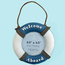 "LIFE RING Photo Frame Nautical  Picture Holder Sea Boats Novelty 3.5"" x 3.5"""
