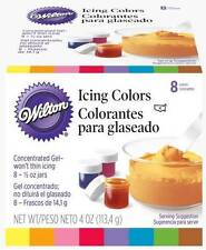 WILTON Set of 8 ICING COLORS New In Box Cake Decorating