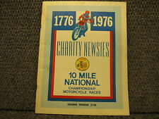 SOUVENIR PROGRAM OHIO STATE FAIRGROUNDS 1976 FLAT TRACK 10 MILE AHRMA 37 PAGE
