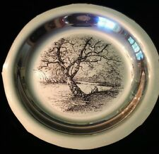 "1972 FRANKLIN MINT STERLING PLATE BY JAMES WYETH ""Along the Brandywine"""