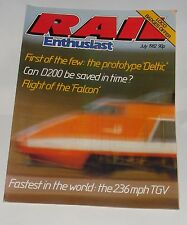 RAIL ENTHUSIAST JULY 1982 - FASTEST IN THE WORLD: THE 236 MPH TGV