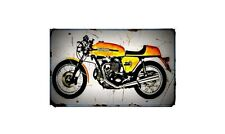 1973 ducati 750 sport Bike Motorcycle A4 Retro Metal Sign Aluminium