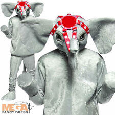 Deluxe Circus Elephant Fancy Dress Up Adult Animal Mens Ladies Costume Outfit