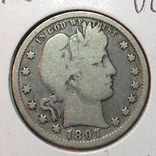 1897-O  VG  Barber Quarter  Solid Rims   LY part of IT    Better Date #1