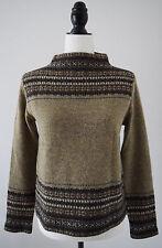Jones New York Sport Women's Sweater 100% Wool Mock Turtleneck MultiColor Size S