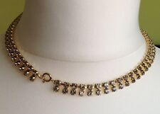 Classically Beautiful 1960's Grey/Green Rhinestone Necklace