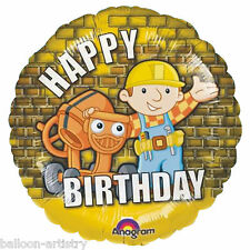 "18 ""Bob the builder joyeux anniversaire ballon foil ronds"