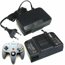 Black Wall Charger AC/DC Adapter Power Supply w/ EU Plug For Nintendo 64 N64