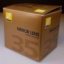 Nikon Nikkor AF D 35-35mm f/2.0 D AF Lens BOXED and Used.