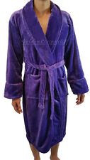 High Quality Men Purple Shawl Collar Velour Plush Thick Bath Robe Spa & Hotel