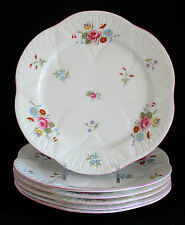 "SHELLEY CHINA ROSE & RED DAISY (DAINTY) 8"" SALAD PLATE #13425 Sold Individually"