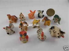 12pc Decoration Aquariums Fish Tank Ceramic Animals Elephant Painted  Miniatures