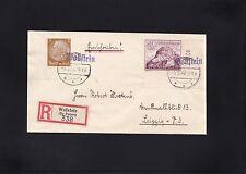 Dt.Reich, R-Brief 1940 aus Wollstein nach Leipzig