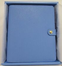 New! Kikki K Cobalt Blue A5 Large Textured Personal Leather Planner 6 Ring Gift