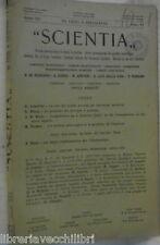 SCIENTIA 1947 astronomi moderni Acetilcolina Embriologia problema dell istinto