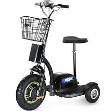 Electric Mobility 500W Scooter MotoTec 3 Wheel Trike 48 Volt Travel MT-TRK-500