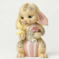 JIM SHORE HEARTWOOD CREEK 4051399 Rabit With Chick - All Ears For Easter