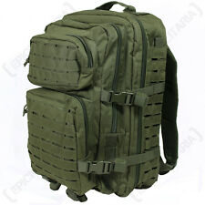 Laser Cut OLIVE GREEN Molle RUCKSACK 36L Large Assault Pack BACKPACK Army