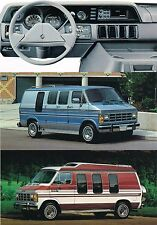 Big 1990 Dodge RAM VAN Brochure / Catalog with Color Chart: B150,B250,B350,B-150