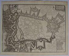 PLAN: CAMBRAI, ville forte capitale diu Cambresis. De FER. Carte originale de (1