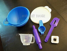 New Tupperware My First Baking Set For Kids Bowl Spatula Measure Cup Rolling Pin
