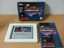 SOUL BLAZER Nintendo snes PAL game complete - SCANDINAVIAN SCN ENGLISH VERSION