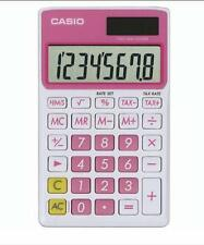 Casio 8-Digit Solar Plus Battery Calculator Auto Off Pink for Pocket or Purse