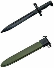 "WWII Style US Model M1 BAYONET with Metal Scabbard 15.75"" Long Overall"