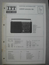 ITT/Schaub Lorenz Junior automatic 105 Service Manual, K031