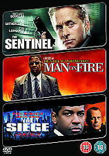 The Sentinel/ Man On Fire/ The Siege (DVD, 2009, 3-Disc Set)