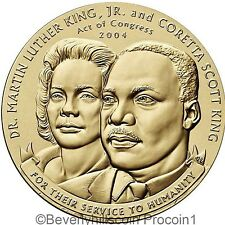 "Martin Luther King Jr. and Coretta Scott King 1 1/2"" Commemorative Bronze Medal"