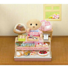 JAPAN EPOCH ANIMAL FIGURE SYLVANIAN FAMILIES CAKE SHOP SET 28340