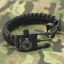 5 in 1 Outdoor Wristbands Survival Rescue Thermometer Flint Bracelets Paracord