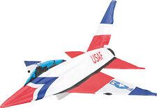 HQ Zweileiner Einsteiger Lenkdrachen Jet Kite 3D 115x126cm Flugleine auf Rolle