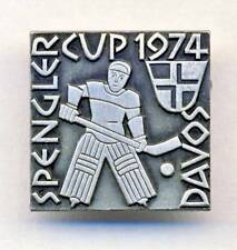 1974 SPENGLER CUP Ice Hockey TOURNAMENT pin BADGE Davos