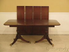 LF39154: KINDEL Duncan Phyfe Oxford Mahogany Banded Top Dining Room Table